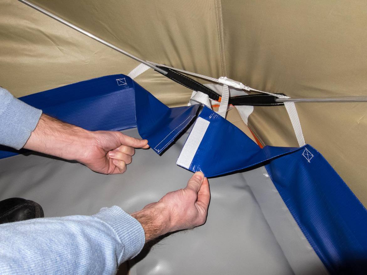Как сделать пол в зимнюю палатку своими руками